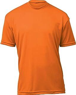 product image for WSI Microtech Loose Short Sleeve Shirt, Orange, Youth Medium