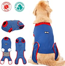 FOREYY Dog Professional Recovery Suit Abdominal Wound Protector Puppy Medical Surgical Clothes Post-Operative Vest Pet After Surgery Wear E-Collar & Cone Alternative