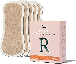Hesta - Juego de 5 Almohadillas de algodón orgánico antialérgico Reutilizables y Lavables