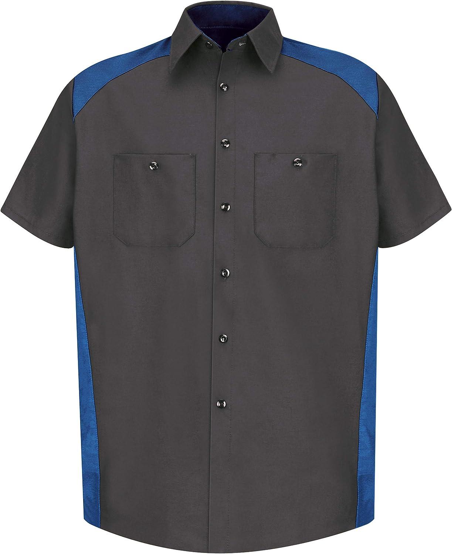 Red Kap Men's Big and Tall Short-Sleeve Motorsports Shirt