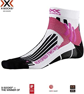 Run Speed Two WMN Socks, Mujer, Arctic White/Opal Black