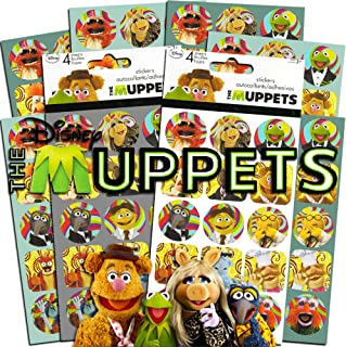 Disney Muppet Stickers Party Supplies Pack ~ 120 Muppets Stickers Featuring Kermit, Fozzie, Miss Piggy and More (8 Sheets, Muppet Babies Toys)