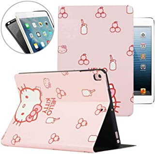 New iPad 9.7 2018 2017 iPad Air/Air 2 / Pro 9.7'' Case, Hello Kitty Pattern Folio Style Smart Cover, Pu Leather Soft TPU Back Case with Multi-Angle Stand & Auto Sleep/Wake (Pink)