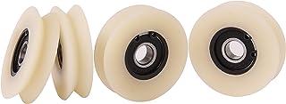 4 stuks nylon polyamide-wielen met 90 ° wigril. Wielen voor lineaire geleiding, 50 mm Diameter - 10 mm Bearing, 4