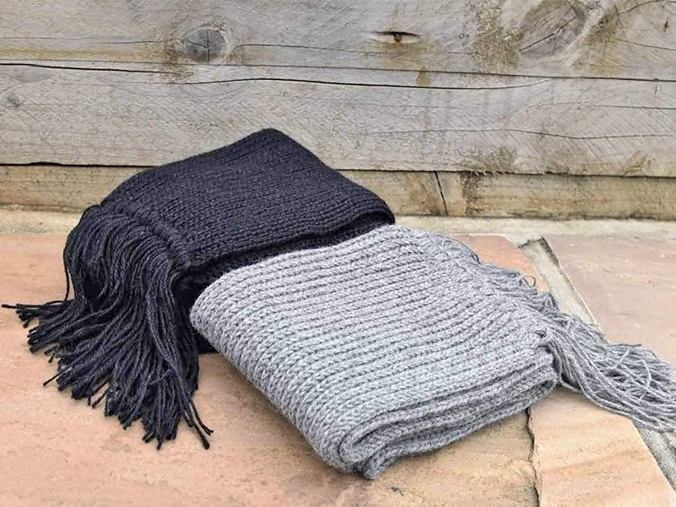 100% Peruvian Royal Alpaca Scarf (35x180 cm) Crocheted Thermo Organic