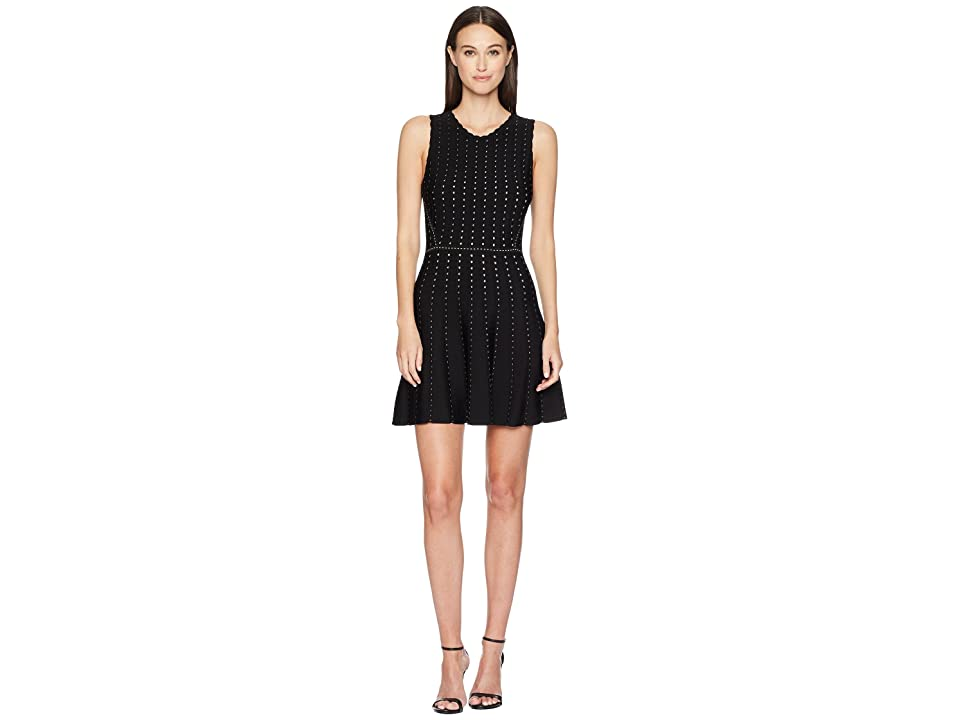 ZAC Zac Posen Eugenie Sweater Dress (Black/White) Women