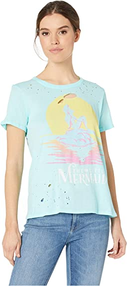 The Little Mermaid x Chaser: Short Sleeve Crew Neck Tee