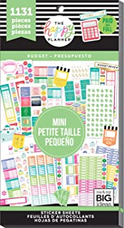 me & my BIG ideas Sticker Value Pack for Mini Planner - The Happy Planner Scrapbooking Supplies - Budget Theme - Multi-Color - Great for Projects, Scrapbooks & Albums - 30 Sheets, 1131 Stickers Total