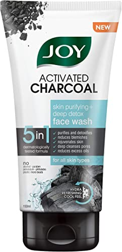 Joy Activated Charcoal Face Wash Skin Purifying Deep Detox No Paraben For All Skin Type 150ml