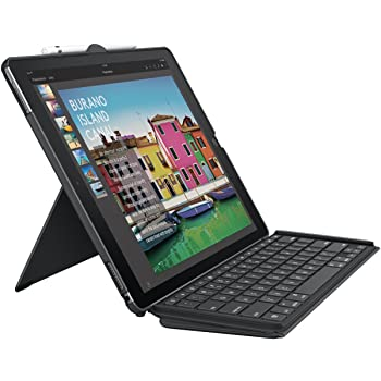 Logitech 920-008432 iPad Pro 12.9 Inch Keyboard Case | SLIM COMBO with Detachable, Backlit, Wireless Keyboard and Smart Connector (Black)