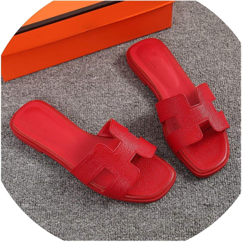 Four- Summer Slippers Women Cut Out Beach Sandals Slides Outdoor Slippers Indoor Slip On Flip Flops