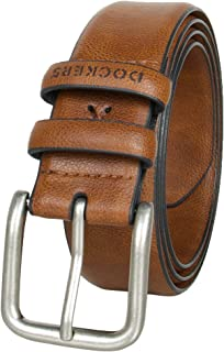 Men's Casual Leather Belt - 100% Soft Top Grain Genuine Leather Strap with Classic Prong Buckle,Brown,34