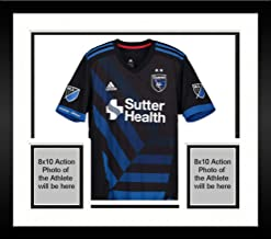 Framed Anibal Godoy San Jose Earthquakes Autographed Match-Used Black #20 Jersey vs. Seattle Sounders on October 28, 2018 - Fanatics Authentic Certified