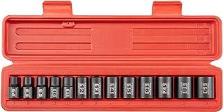 TEKTON Conjunto de soquetes de impacto de 12 pontos para chave de 3/8 polegadas, 13 peças (7-19 mm)   47916