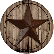 OneHoney Round Area Rugs, Western Texas Star Indoor Entryway Doormat Throw Runner Rug Floor Carpet Pad Yoga Mat for Living...