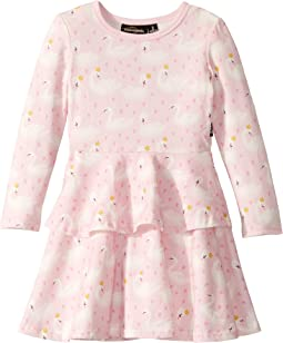 Swannie Long Sleeve Layered Dress (Toddler/Little Kids/Big Kids)