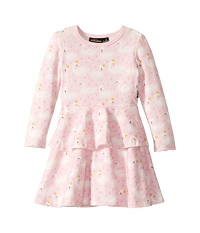 Rock Your Baby Swannie Long Sleeve Layered Dress (Toddler/Little Kids/Big Kids) (Pink) Girl