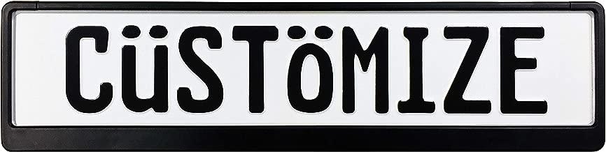 Custom European License Plate (Plate + Frame)
