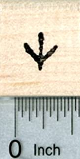 Small Chicken Track Rubber Stamp, 1/3 inch tall