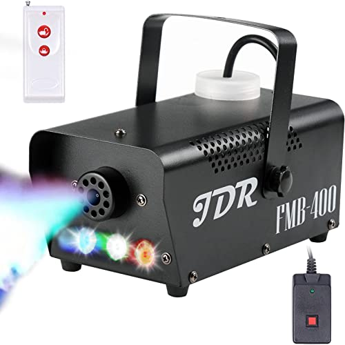 Fog Machine JDR Smoke Machine Controllable LED Light 400W and 2000CFM Fog Disinfection with Wireless and Wired Remote...