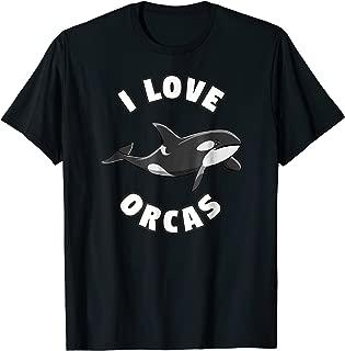 I Love Orcas Killer Whale T-Shirt Orca Lover Tee
