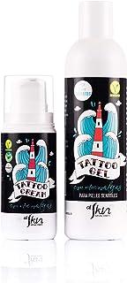 Pack cosmética para tatuajes | Crema 100ml y gel 250ml para reparar hidratar cicatrizar y proteger los tatuajes | Certif...