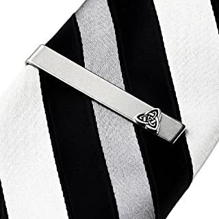 /Livr/é dans une bo/îte cadeau gratuit ou sac cadeau /Argent Sterling 925/ Homme Irish Noeud Celtique Motif Cravate/