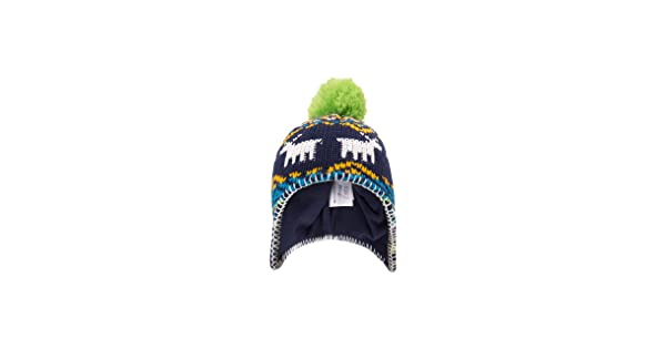 Mountain Warehouse Moose Fairisle Kids Winter Knitted Trapper Hat