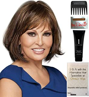 Bundle - 5 items: Classic Cut by Raquel Welch Wig, Christy's Wigs Q & A Booklet, Wig Shampoo, Wig Cap & Wide Tooth Comb (Color Selected: RL3027)