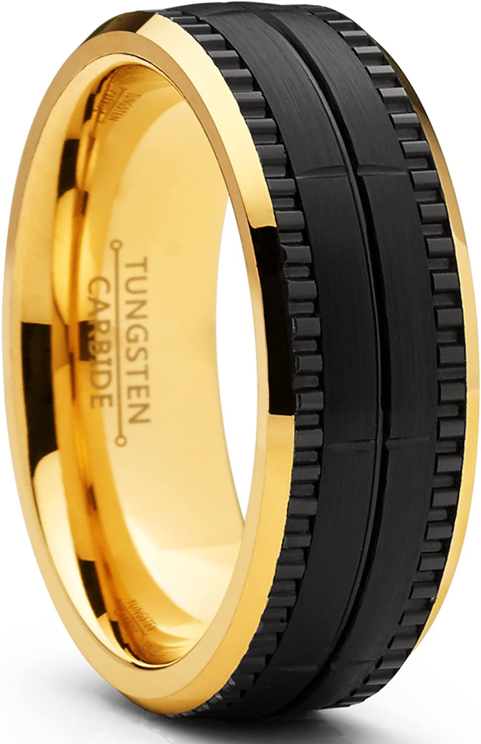 Metal Masters sold out Co. Men's Two Tone Textured Attention brand Black Bru and Goldtone