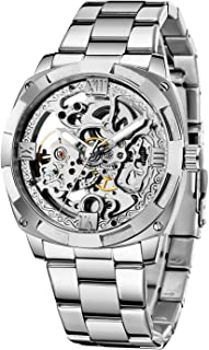 Sponsored Ad - TIONG Mechanical Men's Watch Stainless Steel Automatic Skeleton Watch Waterproof Watches for Men Best Gift ...