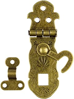 RZDEAL Pack of 2 Vintage Style Hardware Bronze Tone Metal Antique Latch Notebook Jewelry and Gift Wood Box Catch Latch Hook Lock