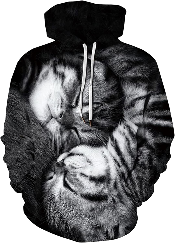 New Free Shipping AviviRuth Men's Animal 3D Graphic Max 68% OFF Pullover Hoodies Sweatsh Print