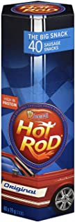 Schneiders Super Hot Rod Sausage Snacks, Original Flavour, 40 Count, 19 g (Pack of 40)