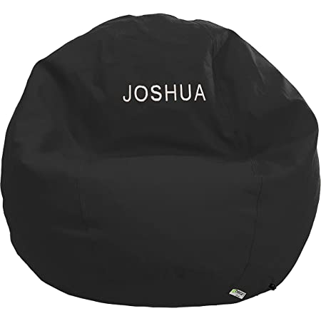Bean Bag Chair Kid Size Personalized Embroidered Comfy Bean Black