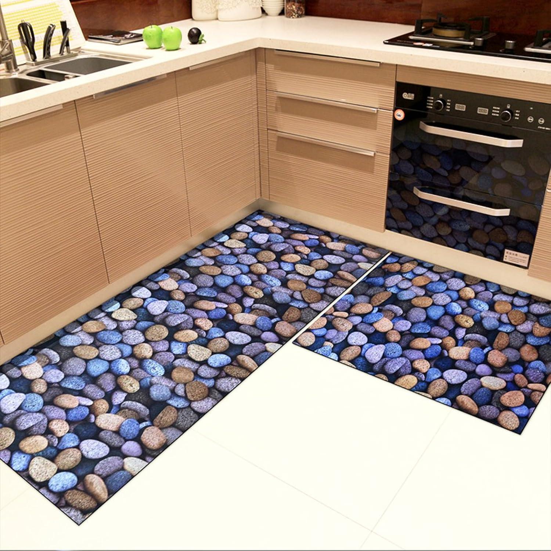 Carpet Door mats Foot pad Kitchen Oil-Proof Water Absorption Non-Slip Bedroom Bathroom-B 24x35inch+24x59inch