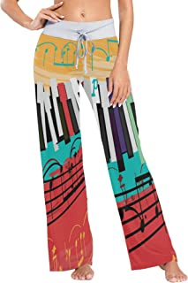 UWSG Women's Pajama Pants Leggings,High Waist Palazz