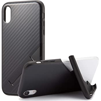 カンピーノ campino スマホケース iPhone XRケース カーボン OLE stand スタンド機能 耐衝撃 スリム 薄型 ブラック 黒