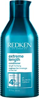 Redken Extreme Length Conditioner | Infused With Biotin and Castor Oil | For Hair Growth | Fortifies, Strengthens & Conditions Hair | Packaging May Vary