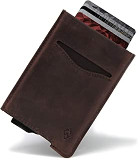 AKIELO RFID Blocking Card Wallet and Gift Box – Stylish Leather Credit Card Holder – Contactless Credit Card Protector (Al...