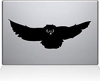 "The Decal Guru Owl Attack MacBook Decal Vinyl Sticker  - 15"" Macbook Pro (2016 & newer) - Black (1141-MAC-15X-BLA)"
