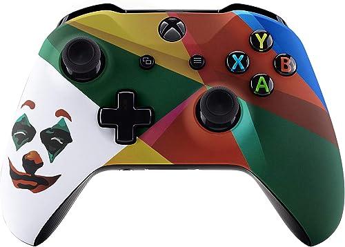 eXtremeRate Coque Avant,Boîtier Housse de Remplacement pour Xbox One X/S Manette Contrôleur(Modèle 1708)-Joker 2019