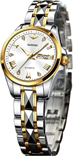 Oupinke Luxury Women Automatic Mechnical Watches Self Winding Wrist Watches for Lady Self Winding Sapphire Crystal Date Day Waterproof