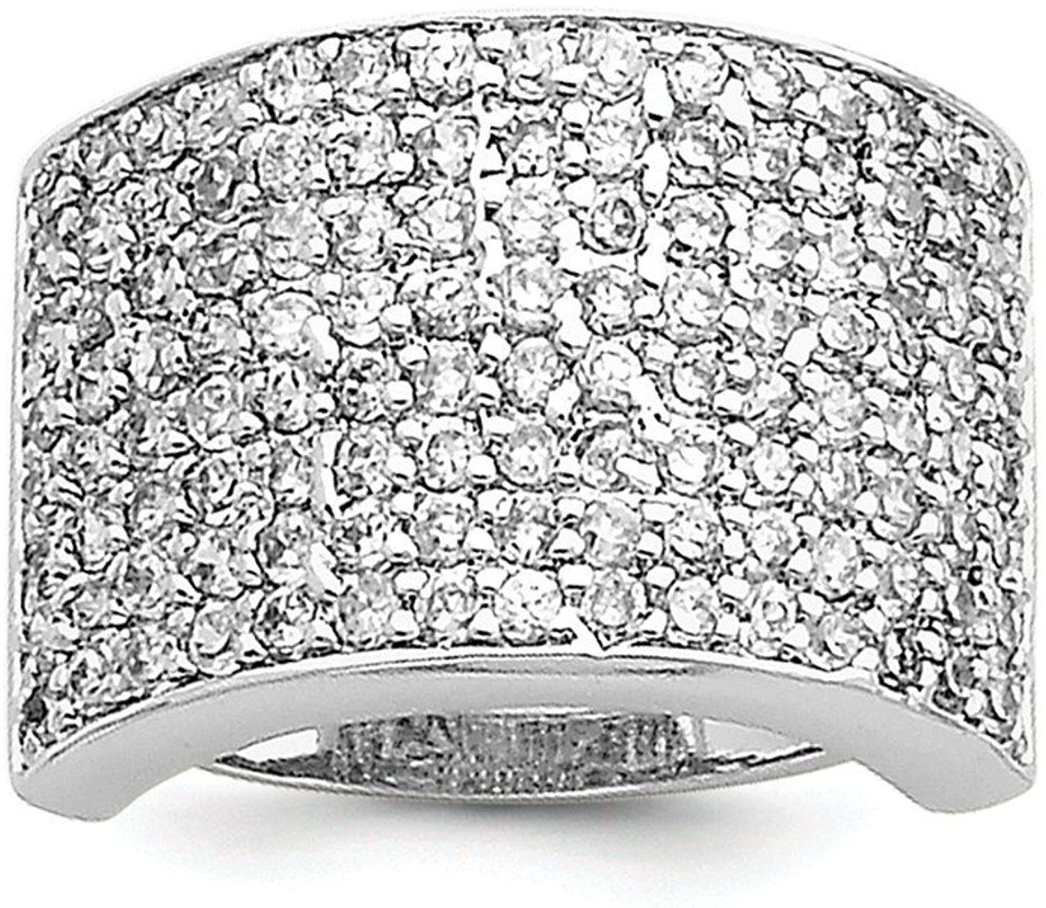 Sterling Silver Polished Cubic Zirconia Ring