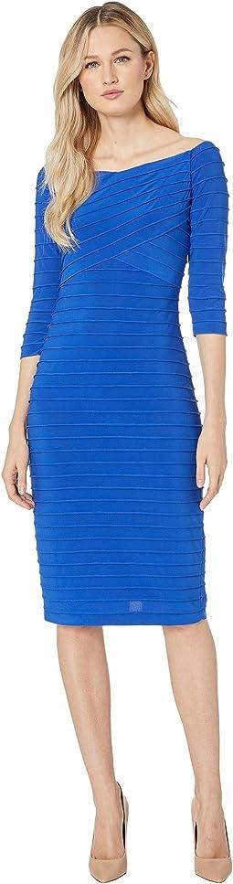 Banded Pintuck Dress