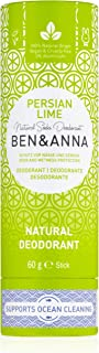 Ben&Anna Natural Soda Deodorant - 100% Aluminium Free Deodorant Cruelty Free Vegan NATRUE-certified with Organic Shea Butter and Bicarbonate Of Soda Made in Germany - Persian Lime - 60g