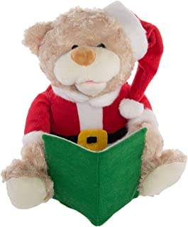 Simply Genius Talking Stuffed Animals Teddy Bear: Animated Christmas Decorations, Talking Toy, Animated Stuffed Animals for Kids and Adults