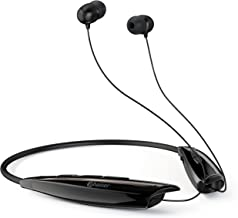 Phaiser Bluetooth Headphones, Retractable Neckband Earbuds with Microphone, Wireless Sweatproof Inear Earphones, Portable Cordless Stereo Headset, Blackout