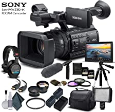 Sony PXW-Z150 4K XDCAM Camcorder (PXW-Z150) with 2-64GB Memory Card, 2 Extra Batteries, UV Filter, LED Light, Case, Tripod, Sony Shotgun Mic, Sony MDR-7506 Headphones - Professional Bundle
