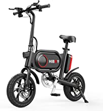Hiboy P10 Folding Electric Bike for Adults, Power Assist, 36V Lithium Ion Battery, Ebike with 12 inch Wheels and 350W Hub ...